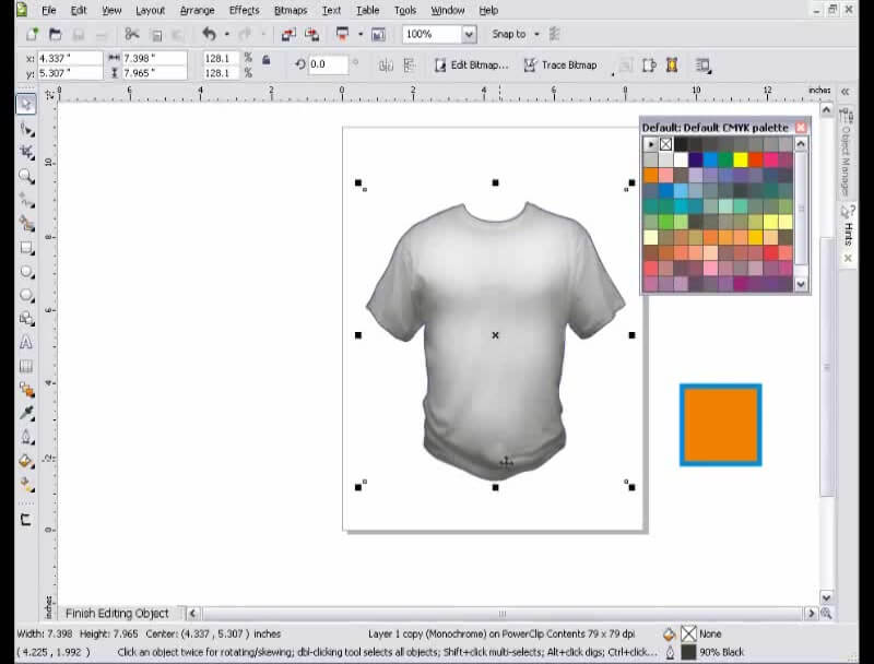 Corel Draw Book Cover Design Tutorial ~ T shirt template coreldraw tutorial advancedtshirts